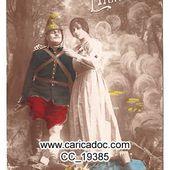 Guerre 1914-1918, Grande guerre 14-18 combats 14-18 Kämpfe - 14-18 combat - c a r i c a d o c
