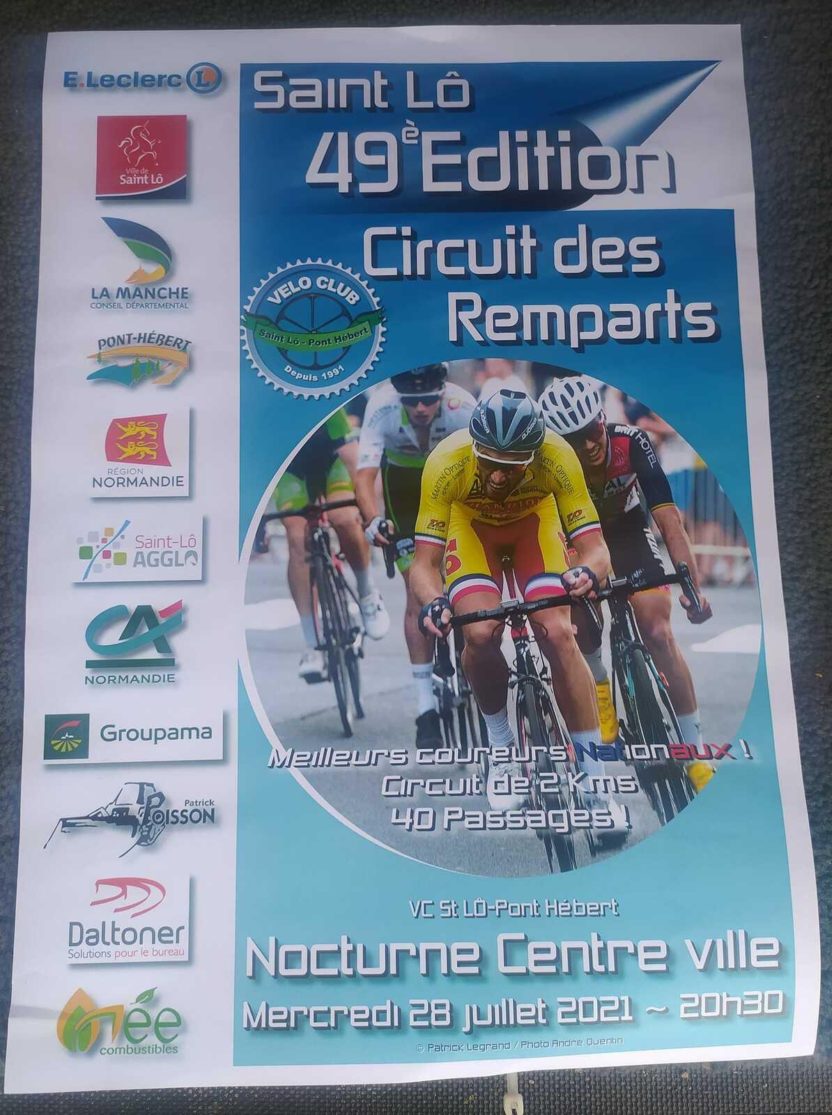 Ce soir, Circuit des Remparts à Saint-Lô