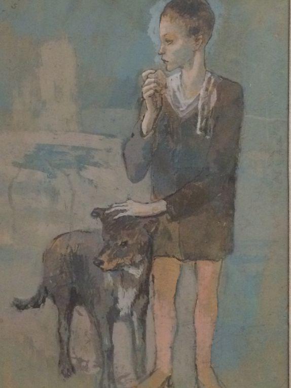 Picasso : portrait, maisonnette dans un jardin, l'usine à Horto de Ebro, l'étreinte, femme à l'éventail, le violon, violon et verre sur une table, bouteille de Pernod, bol vert et flacon noir