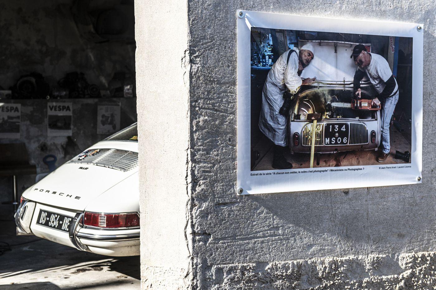 Sur le mur d'un garage !  (©l.colonna)