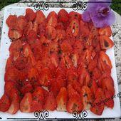Carpaccio de fraise, basilic et vinaigre balsamique - La cuisine de poupoule