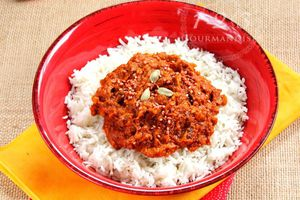 Poulet Makhani et riz basmati