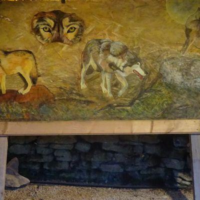 Les loups : ma plus grande oeuvre mixte sur bois