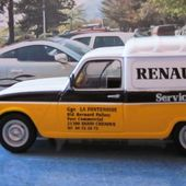 FASCICULE N°12 RENAULT 4 FOURGONNETTE R4 F4 RENAULT SERVICE 83 1/43 UNIVERSAL HOBBIES - car-collector.net