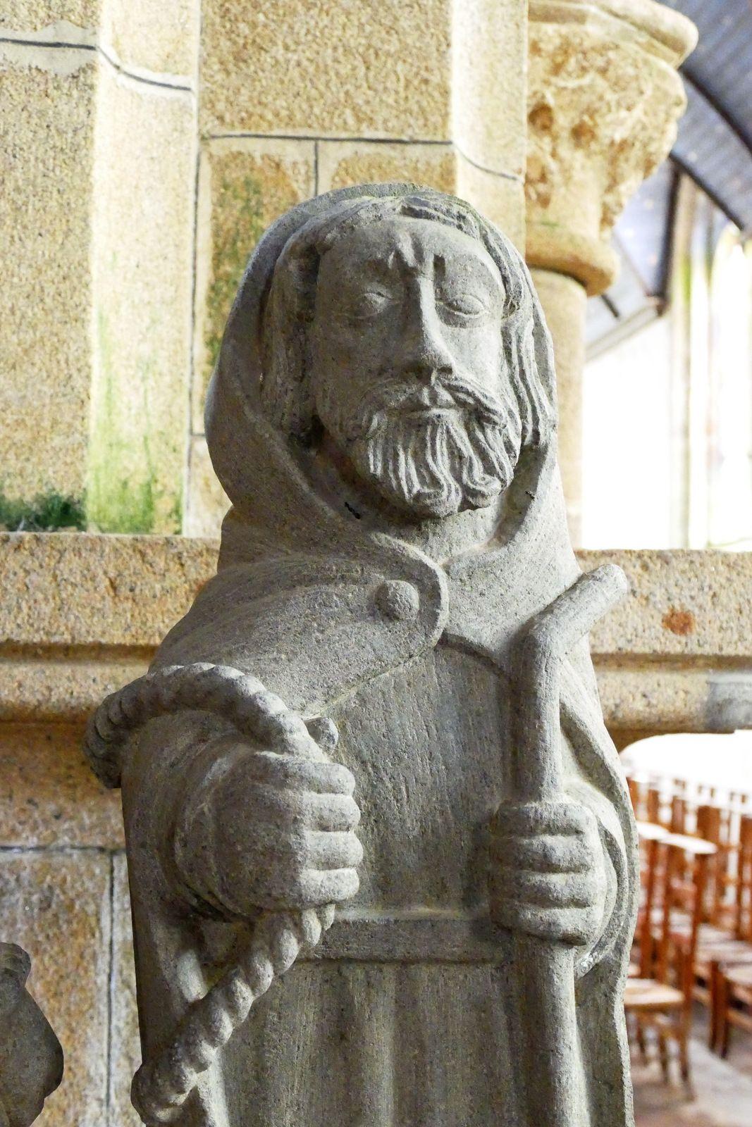 La statuaire de la chapelle de Lambader en Plouvorn. I, Les vestiges d'un calvaire.