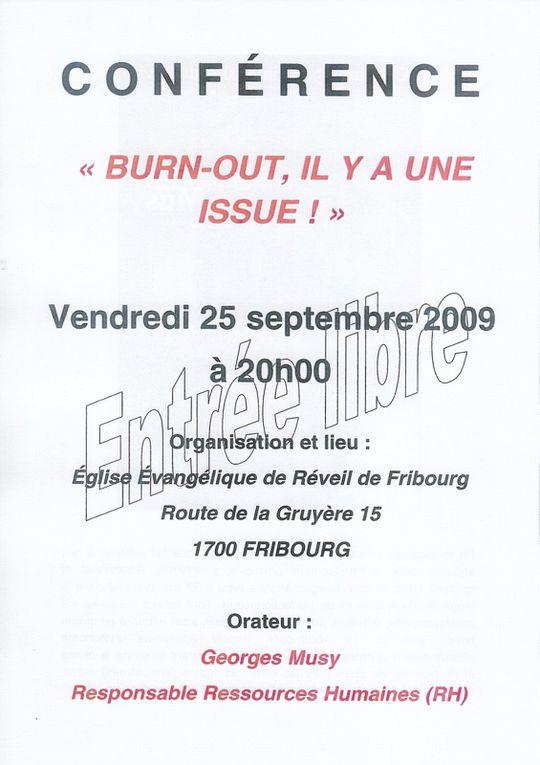 Burn-out : Conférence et témoignage à Fribourg