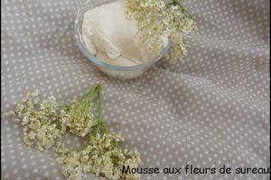 Mousse aux fleurs de sureau et au miel de Luzerne