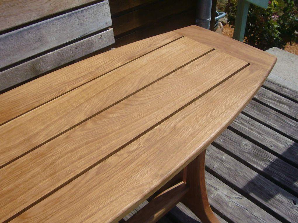 Table extérieure en chêne