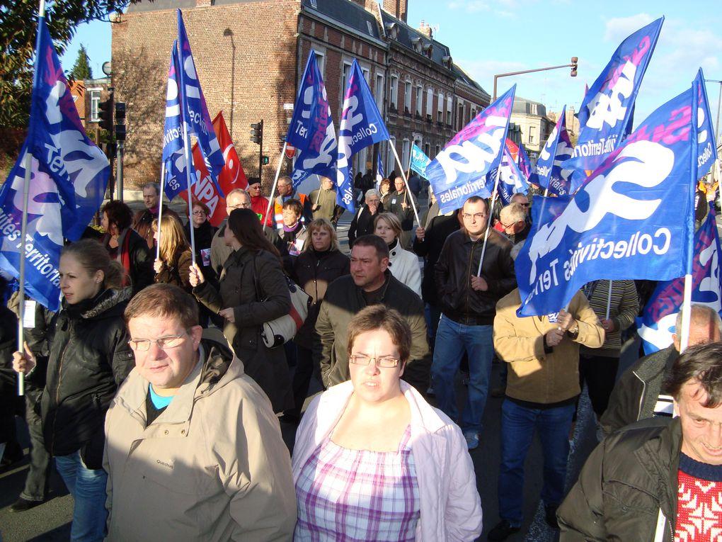 3000 manifestants à saint Quentin (Aisne) pour la manifestation du mardi 19 octobre 2010