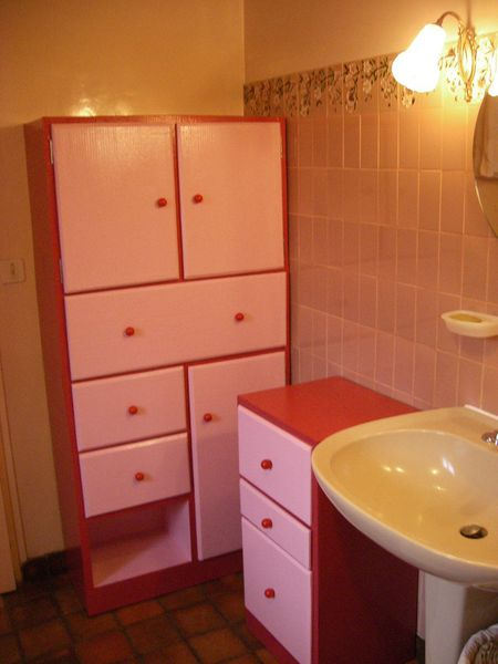 Rangement en carton ondulé pour la salle de bain