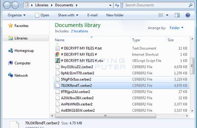 Ransomware Cerber versión 2 Liberado, utiliza la extensión .Cerber2.