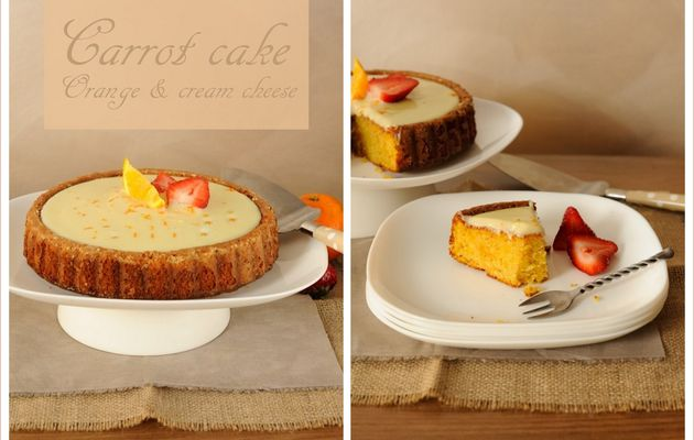 Semaine orange: Carrot cake - Orange & cream cheese