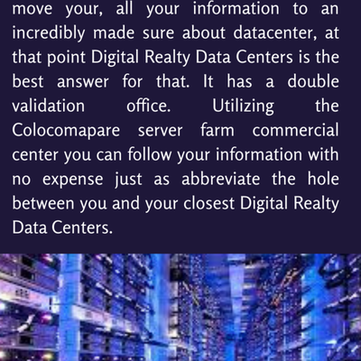 Digital Realty Data Centers- Connects To Worldwide Network