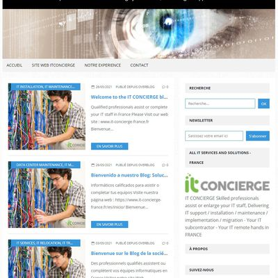 Leading IT services in France : IT subcontractor - IT remote hands - Network maintenance and repairs on site by IT CONCIERGE in France