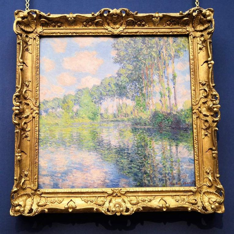 Claude Monet, Poplars on the River Epte, 1891, Oil on canvas