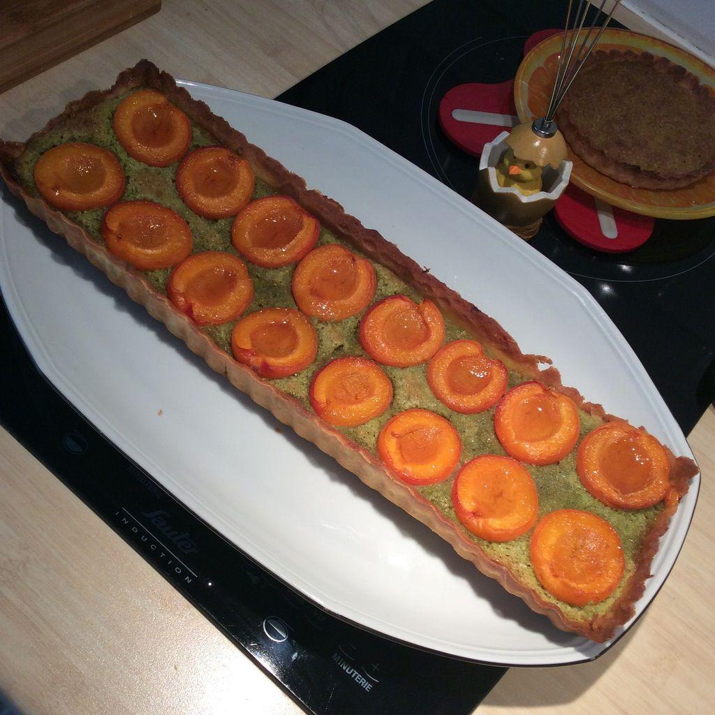 Ma tarte abricots pistaches