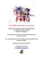 """Atelier """"Batucada"""" aux Omergues, le 18 mars..."""