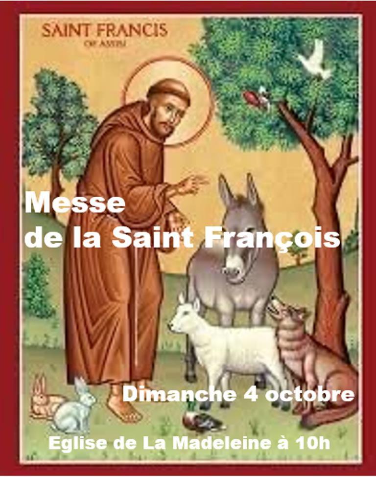 MESSE DE LA SAINT FRANCOIS D'ASSISE À LA MADELEINE