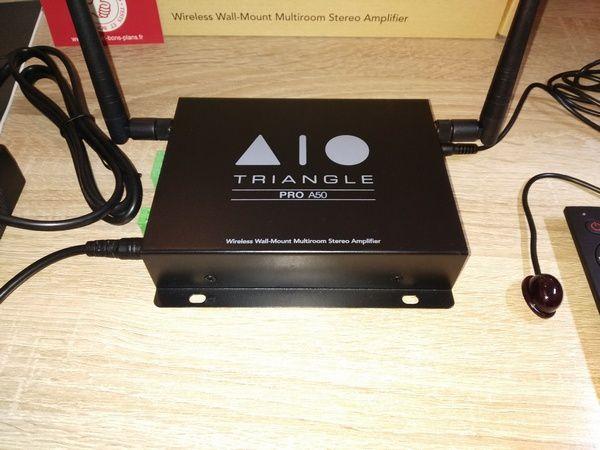 test de l'amplificateur streamer multiroom Triangle AIO Pro A50 @ Tests et BonsPlans
