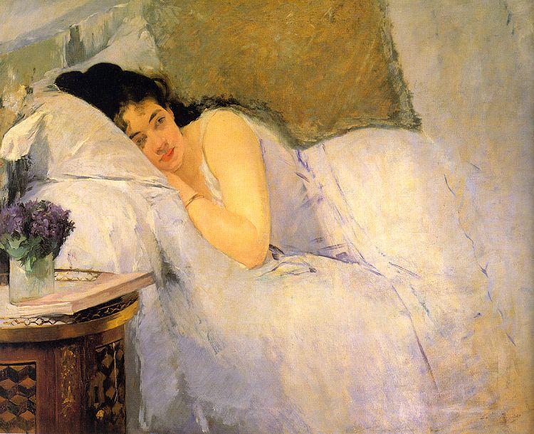 Eva Gonzales - Le réveil