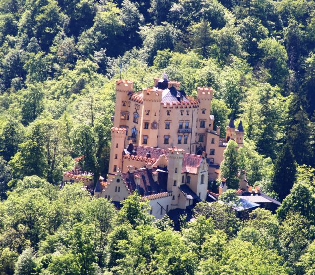 Vues bavaroises du château Neuschwantein Allemagne