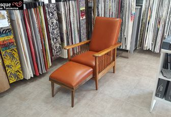 refection complete fauteuil finition cuir arabesque thiers