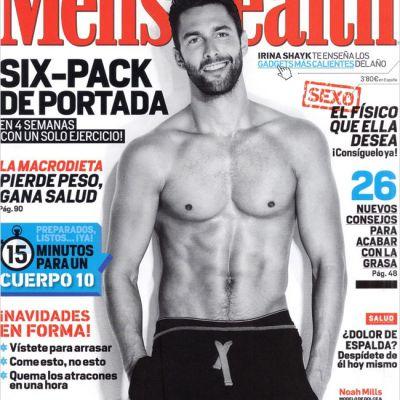 Noah Mills shirtless for Men's Health Spain December 2012
