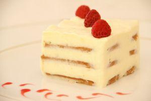 Crémeux de Spéculoos chocolat blanc et framboises
