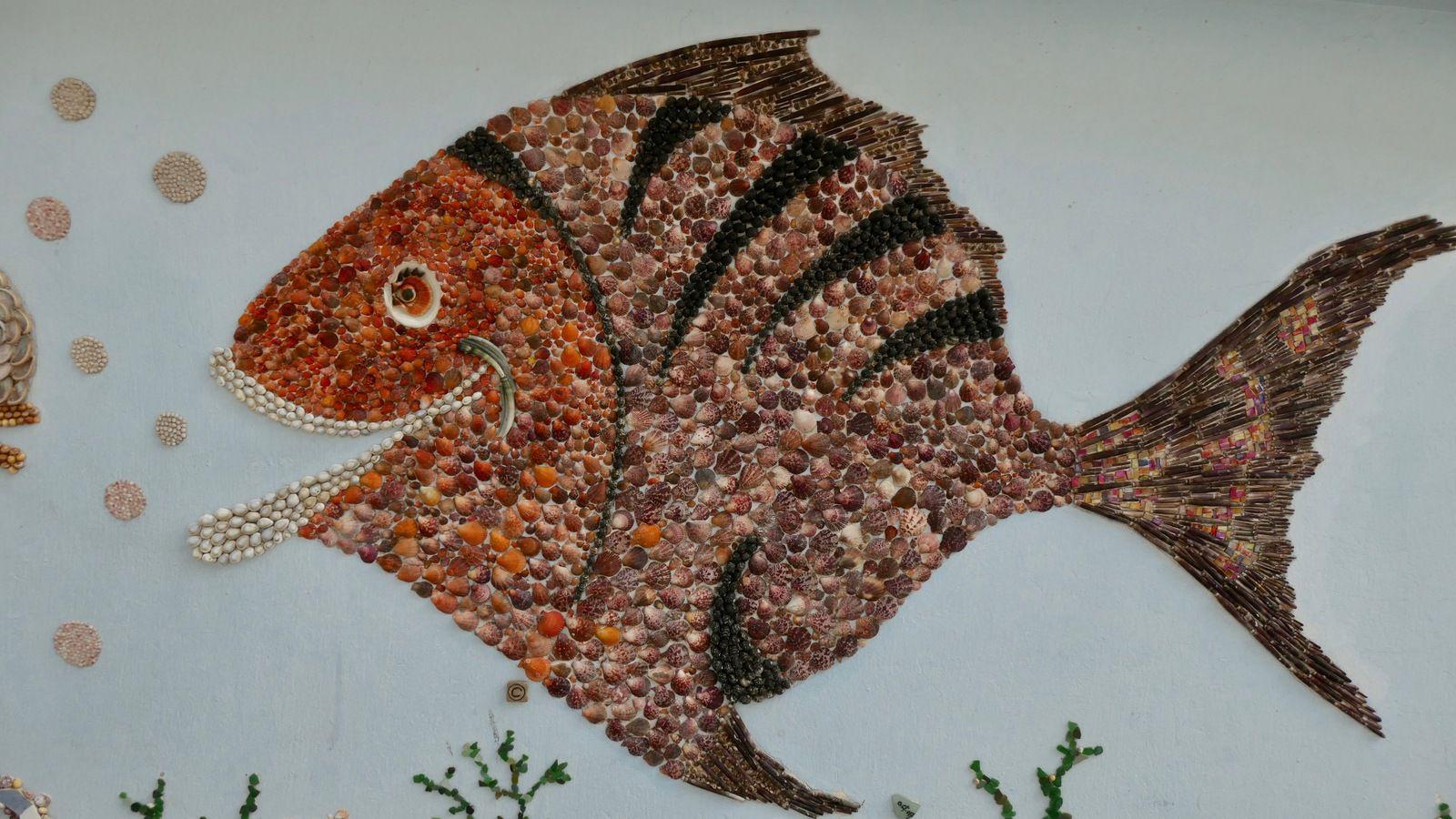 L'Ile Penotte .....les décors artistiques en coquillages sont de l'artiste Danièle Arnaud-Aubin