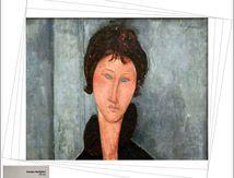 Femme aux yeux bleus de Modigliani