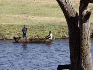 Fishermen on the Chobe river