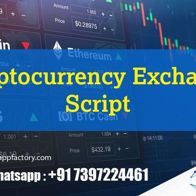 Cryptocurrency Exchange Script-Crypto App Factory
