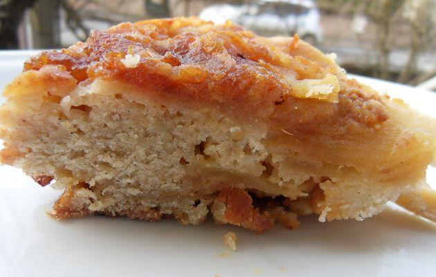 gateau renversé aux pommes et beurre salé
