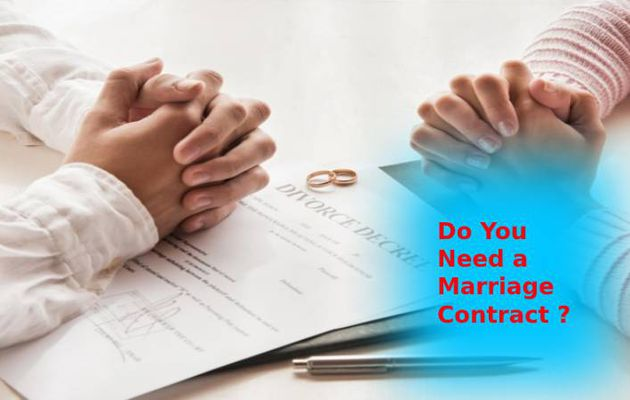 Do You Need a Marriage Contract?