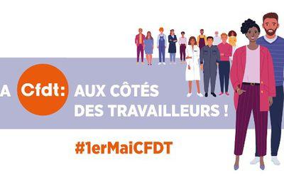 1er mai 2021 : la CFDT aux côtés des travailleurs et travailleuses