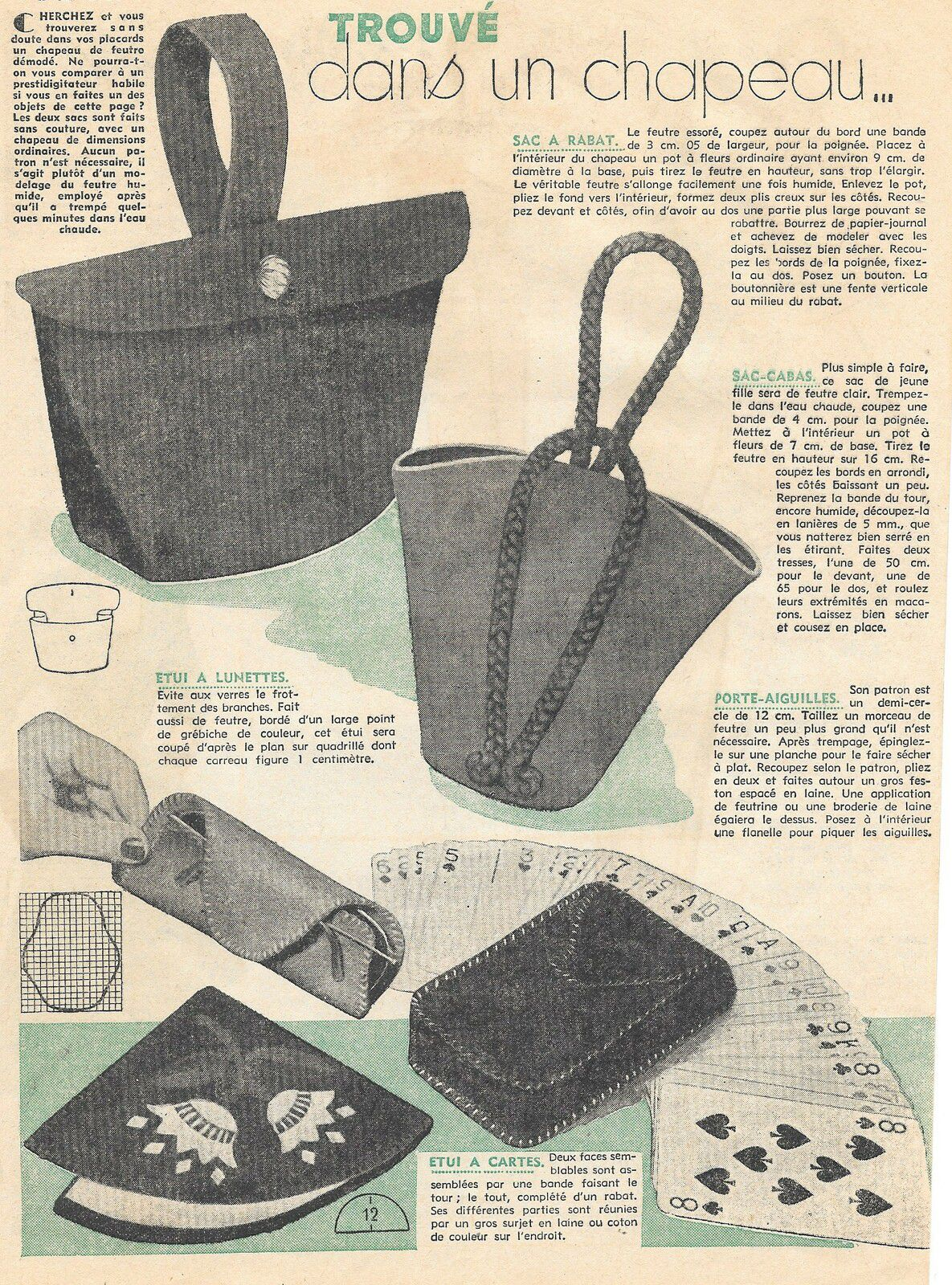 sac modèle 1953...en récup!