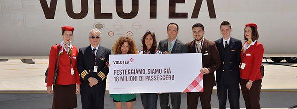 Volotea célèbre son 18 millionième passager