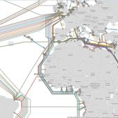 Global Internet map / Submarine Cable Map - OOKAWA Corp.