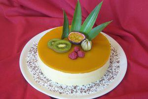 Bavarois Framboises et Fruits exotiques