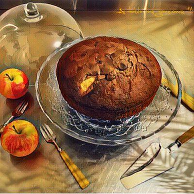 Gâteau yaourt chocolat et pommes