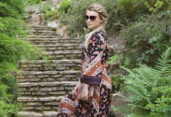 La jolie robe bohème de la collection Heidi Klum...