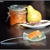 Confiture de poires à la vanille - Les recettes de Céci