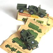 "JEEP WILLYS HOTCHKISS - POLITOYS 1:41 "" SOUS L'INFLUENCE DINKY TOYS France "" -"