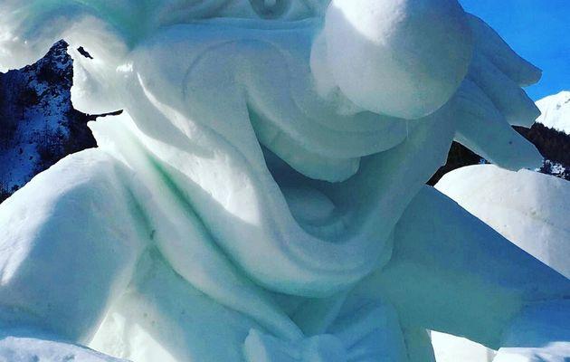 Sculptures de neige à Valloire