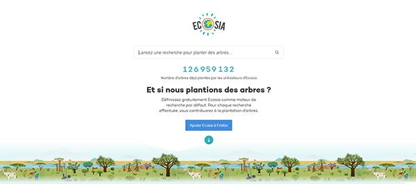 ecosia trees arbres plantation ecologie moteur recherche bernieshoot