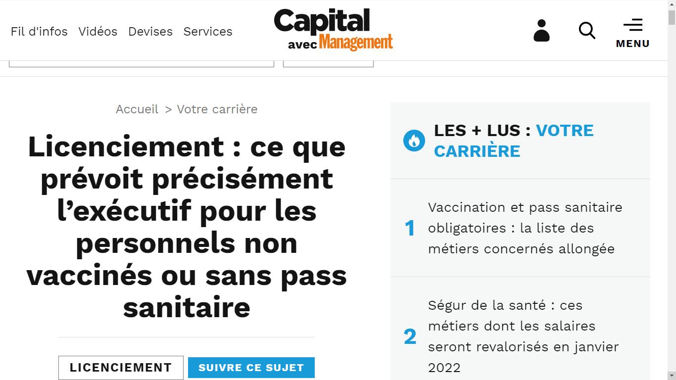 Source : https://www.capital.fr/votre-carriere/licenciement-ce-que-prevoit-precisement-lexecutif-pour-les-salaries-non-vaccines-ou-sans-pass-sanitaire-1410082