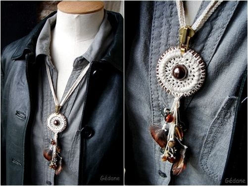 DIY/ Collier zip et crochet