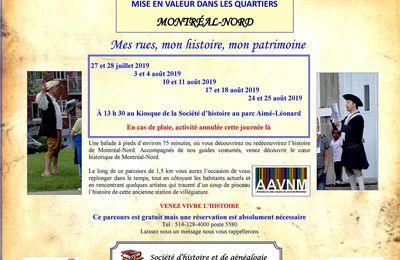 Invitation pour découvrir l'histoire de Montréal-Nord