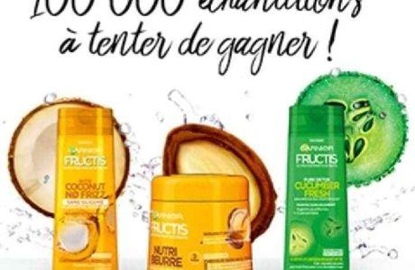 100 000 ÉCHANTILLONS FRUCTIS A TENTER DE GAGNER