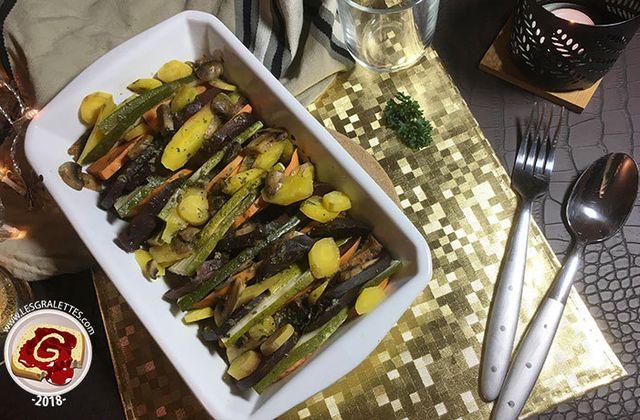 Recette : Tian de légumes à la betterave et patate douce
